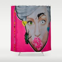 artrave Shower Curtains featuring artRAVE by Sabino Martinez