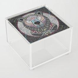 Neon Tribal Bear Acrylic Box
