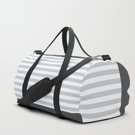 Simple stripes grey. Marine theme Duffle Bag
