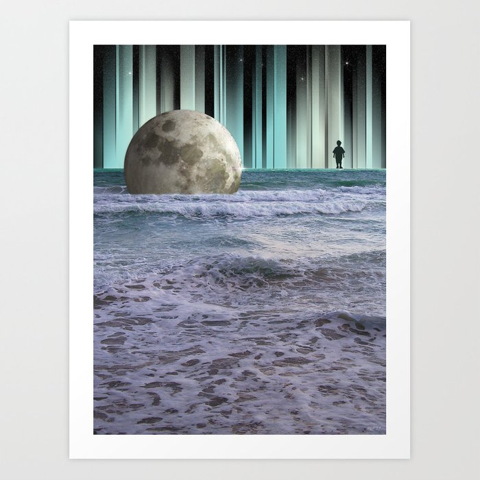 Dreaming At High Tide Art Print