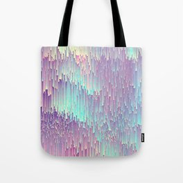 Iridescent Glitches Tote Bag