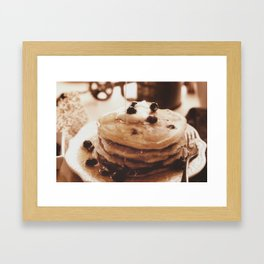 Pancakes from the past Framed Art Print