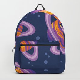 Saturn space planets ring solar system children wallpaper texture tile abstract seamless pattern  Backpack