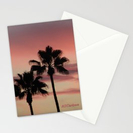 Atmospherics Number 3: Two Palms in the Sunset Stationery Cards