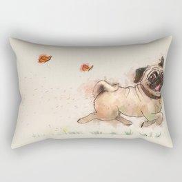 The Furminator pug watercolor like art Rectangular Pillow