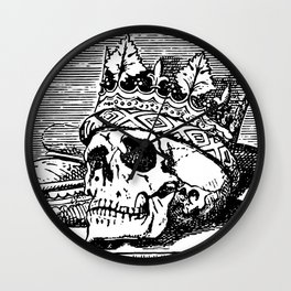 Skull with Crown Wall Clock