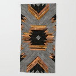 Urban Tribal Pattern No.6 - Aztec - Concrete and Wood Beach Towel