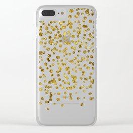 Gold Confetti Sparkle and Shine Clear iPhone Case
