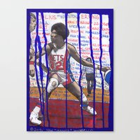 nba Canvas Prints featuring NBA PLAYERS - Julius Erving by Ibbanez