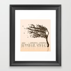 Jennifer Sivec-Author Logo by Brenda Gonet Framed Art Print