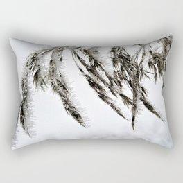 frozen grass in blck and white Rectangular Pillow