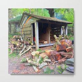 Rainbow Logs Metal Print