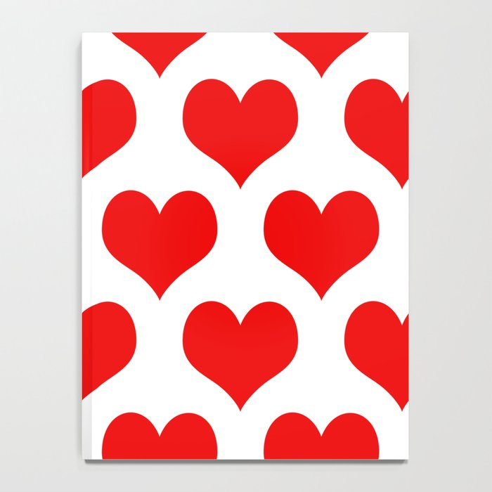 Holidaze Love Hearts Red Notebook