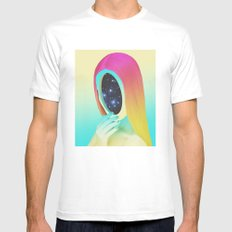 Galexia LARGE White Mens Fitted Tee