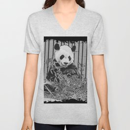 Panda Bear Cutie Unisex V-Neck