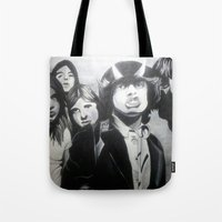 acdc Tote Bags featuring ACDC by MELANIE GERVAIS ART