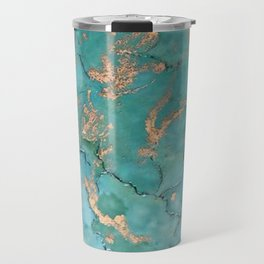 Turquoise and Gold - original painting by Tracy Sayers Trombetta Travel Mug