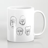 no face Mugs featuring Face by Etiquette