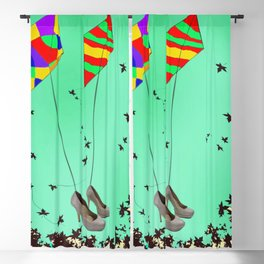 Flying Kites in May with May - shoes stories Blackout Curtain