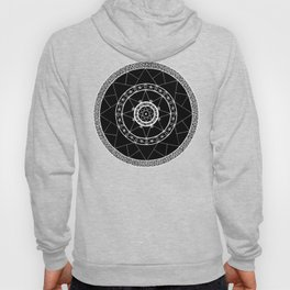 Zen Star Mandala - Black White - Square Hoody