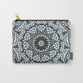 BLUE, GREY AND WHITE MANDALA  Carry-All Pouch