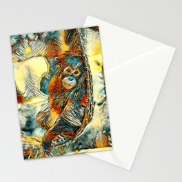 AnimalArt_OrangUtan_20170605_by_JAMColorsSpecial Stationery Cards