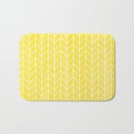 Yellow Herringbone Bath Mat