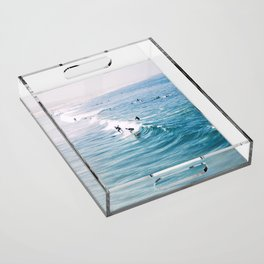 Catch A Wave Acrylic Tray