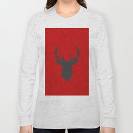 Antiallergenic Hand Knitted Deer Winter Wool Texture - Mix & Match with Simplicty of life Long Sleeve T-shirt