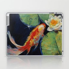 Koi and White Lily Laptop & iPad Skin