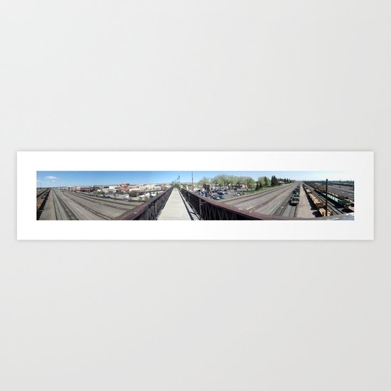 Laramie, WY (Panoramic) Art Print