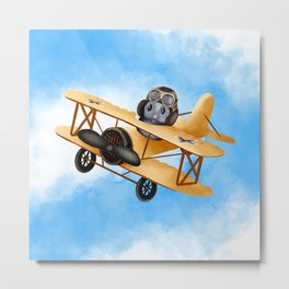 Dotty Dolittle The Flying Squirrel Metal Print