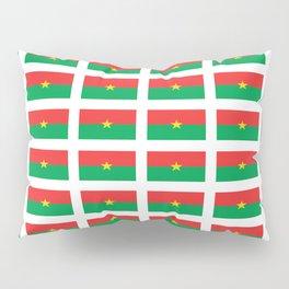 Flag of burkina faso- burkinabe,mossi,fula,ouagadougou,dioula,bobo-dioulasso,sahel,voltaic. Pillow Sham