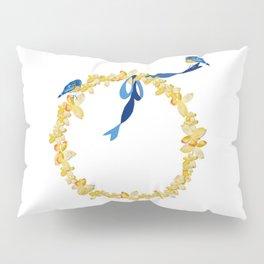 Bluebirds and Blossoms Pillow Sham