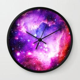 nebula Galaxy Purple Wall Clock