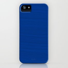 Slate Blue Brush Texture - Solid Color iPhone Case