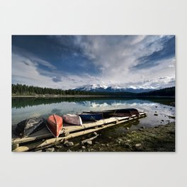 Canoes Canvas Print