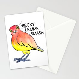Angery Birb - Becky Lemme Smash Stationery Cards