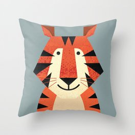 Whimsy Tiger Throw Pillow