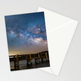Milk Way over Lake Cuyamaca, CA Stationery Cards