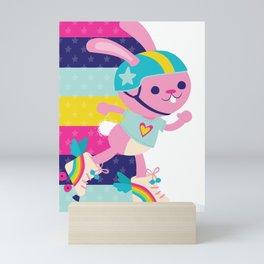 Jammer Bunny Rosa Mini Art Print