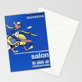 vintage Plakat salon international du plein air Stationery Cards