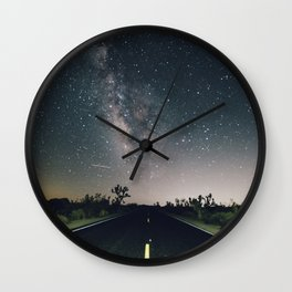 Aliens Exist - Joshua Tree Milky Way Wall Clock