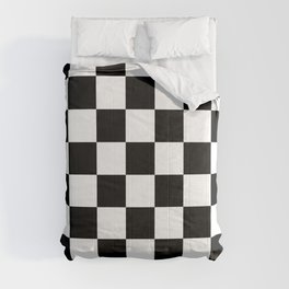 Checkered - White and Black Comforters