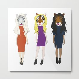 Hot Tiger Ladies Metal Print