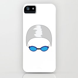 Swim Cap and Goggles iPhone Case