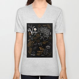 Virgo Sign Zodiac Home Decor Design Unisex V-Neck