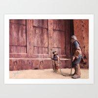 Art Print featuring The Big Door by jcalum2012