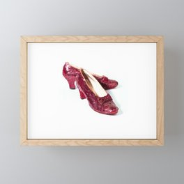 Ruby Slippers Movie Prop Red Sequins Framed Mini Art Print