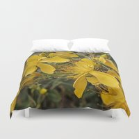 marc johns Duvet Covers featuring Beautiful St Johns Wort by Wendy Townrow